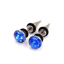 Stainless Steel Tapers Fake Illusion Tunnel Cheater Piercing Stud Earrings
