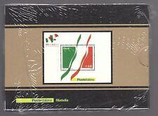 2011 Italia/Italy 150° Foglietto in argento Unità d'Italia Tiratura 5000 MNH**