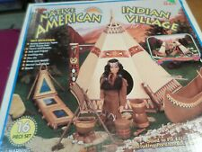 Native American Village - VINTAGE - in box. AWESOME VINTAGE TOY!