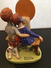 "*D 608 Norman Rockwell "" Young Love "" Porcelain Figurines Sept 1980 Mint"