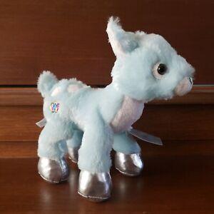 Ganz Webkinz Plush Winter Fawn Stuffed Animal Blue Silver hoofs New Sealed Tag