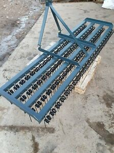 SPRING TINE HARROW 4 BAR WITH/WITHOUT SEED/FERTILISER SPREADER
