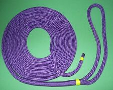"3/8"" x 15' Premium Purple Double Braid Nylon Dock Line / Rope Made & Spliced USA"