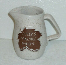 Polly's Pancake Parlor Creamer Restaurant Ware Onion River Pottery Syrup Pitcher