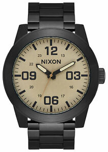 Nixon Corporal Stainless Steel Watch,48MM Mens Round Analogue Fashion Watch - Bl