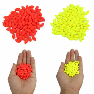 100PCS 12mm Oval Hard Rig Beads Sea Fishing Lure Floating Float Tackles Tool❤T