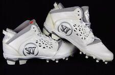 New Men's Warrior Adonis Lacrosse Cleat White Silver sz 9 602850661419