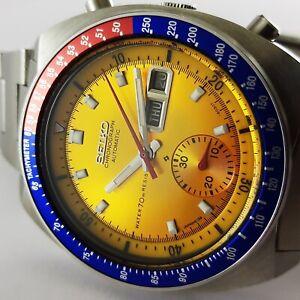 Vintage Automatic Water 70m Resist Seiko Pogue 6139 6002 Men Wrist Watch