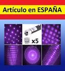 5x CABEZALES Puntero Laser LILA AZUL militar GRAN ALCANCE patrones 532nm<1mW