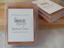 Mulled Cider Scented Soy Wax Clamshell Melt Tart- 2wks of Fragrance