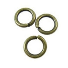200pc 5mm antique bronze finish jump rings gauge 18-8100