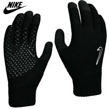 Nike Gloves Knitted Junior Boys Touch Screen Running Sports Kids Winter Black