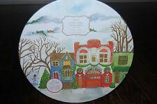 Pottery Barn WINTER VILLAGE DINNER PLATES Set of 4 Plate CHRISTMAS HOLIDAYS NEW