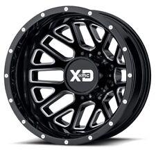17 Inch Black Wheels Rims Dodge RAM 3500 Dually NEW XD Series Grenade 8x6.5 Lug