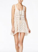 Free People OB405008  Intimately Voile & Lace Trapeze Slip Top in Cream Co Small
