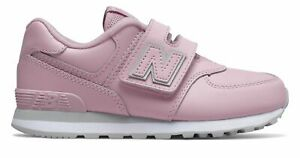 New Balance Kid's 574 Hook and Loop Big Kids Female Shoes Purple with Grey Size