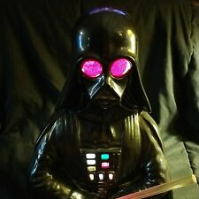 Rare Vintage 80's star wars Ceramic Darth Vader Lamp Night Light working 1977