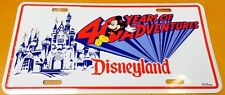 DISNEYLAND 40 YEARS OF ADVENTURES LICENSE PLATE 40th ANNIVERSARY DISNEY 1995 NEW