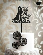 Customized Wedding Cake Topper Personalized Mr and Mrs Cake Topper - ind101