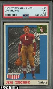 1955 Topps All American Football #37 Jim Thorpe HOF PSA 5.5 EX+