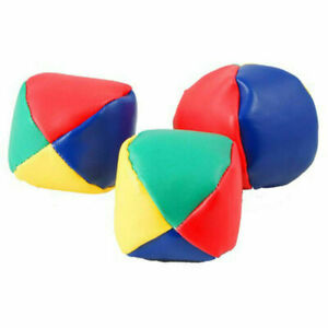 3/6/12/24 Juggling Balls Circus Clown Coloured Learn Juggle Toy Game Soft Ball