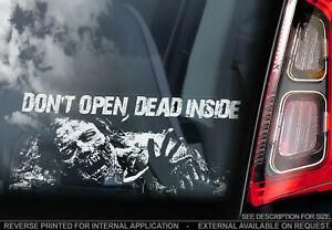 The Walking Dead - Car Window Sticker - 'Don't Open, Dead Inside' Zombie Decal