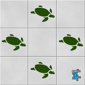 Turtles Vinyl Wall Tile Stickers Decals Bathroom Home Decor