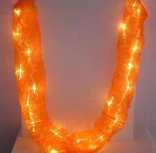 Orange Organza Hanging Column Tube Fairy Light String 20 LED lights mains power