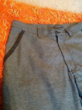 "Designer DKNY grey with black trim trousers 33"" , cotton / polyester mix vgc"