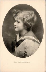 Prinz Ernst von Hohenberg Vintage silver print on carte postale paper Ti