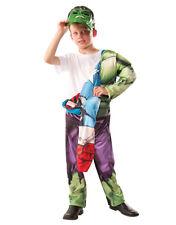 """HULK e CAPITAN AMERICA Reversibile Bambini Costume, Medio, età 5-7, altezza 4' 2"""" -4' 6"""""""