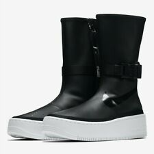 New Women's Nike Air Force 1 Sage High Boot Size 5 Black/White AQ2771-001