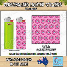 Lighter Stickers / Wrap x9 - Standard Bic Lighter - SIMPSONS DONUTS