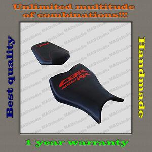"Custom Design Seat Cover HONDA CBR1000RR 08-11 BLACK+RED ""CBR1000RR"" 001"
