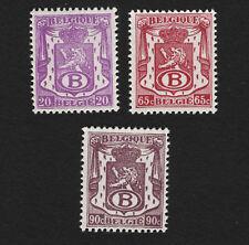 OPC 1946-8 Belgium Official Stamps Sc#O37 O39 O41 MNH