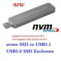 M key NGFF M.2 NVMe SSD to USB 3.0 USB3.1 Adapter Converter Card SSD Enclosure