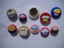 Bakery Treats Refrigerator Magnets - Set of 10