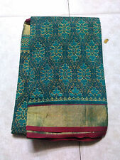 Green Silk Cotton Saree Full Jari Border Saree W/B(New With Defect)MRP 1100