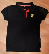 FERRari black polo shirt Limited Edition junior size L runs small FANTASTIC