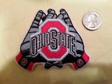 OSU Ohio State Buckeyes Embroidered Iron On Patch  3 1/2 X 3 NICE GLOVES SHAPE