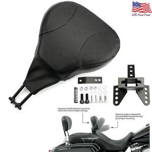 Motorcycle Passenger Sissy Bar Backrest Cushion Pad For Harley Fatboy Universal