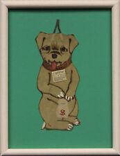 Bergdorf Goodman Framed $ Dog 1907 Calendar