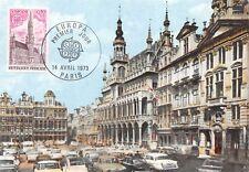 Carte Maximum FDC France BRUXELLES EUROPA Grand' place Janvier 1973 PARIS