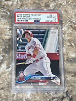 2018 Topps Team Set Mike Trout #A-1 PSA 10 GEM MINT Los Angeles Angels MLB Card