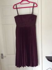KAREN MILLEN DRESS STRAPPY PLEATED SKATER STYLE fully lined UK12 perfect
