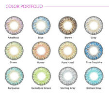 12 Colors Fashion Cosmetic Contact Lenses Circle Big Eyes Makeup Party Beauty