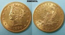 United states year 1896. Beautiful ten Dollars. $10. Gold weight 16,72 gr