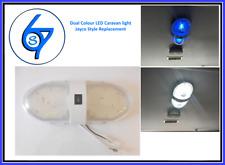 Dual LED Ceiling Light White/Blue 12V Lighting for Trailer Camper Caravan