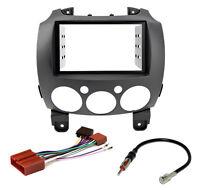 Radio Blende Adapter Kabel Set Mazda 2 ab 2007 Doppel-DIN 2DIN schwarz