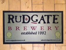 RUDGATE BREWERY RUBBER BAR RUNNER BEER DRIP MAT OLD STYLE DESIGN GREAT CONDITION